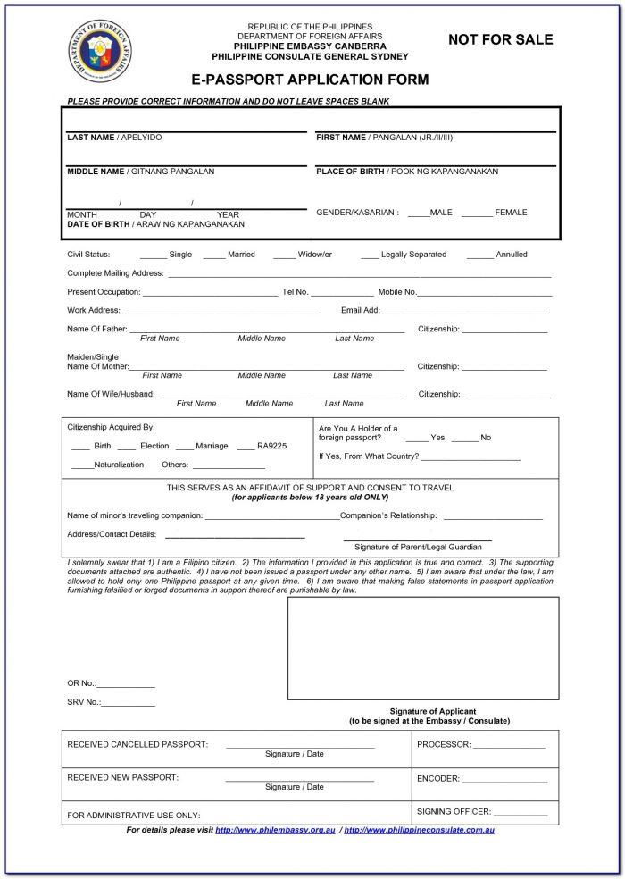 Dfa Application Form For Lost Passport
