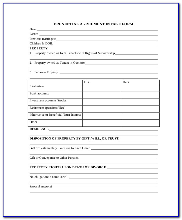 Divorce Intake Form California Form Resume Examples