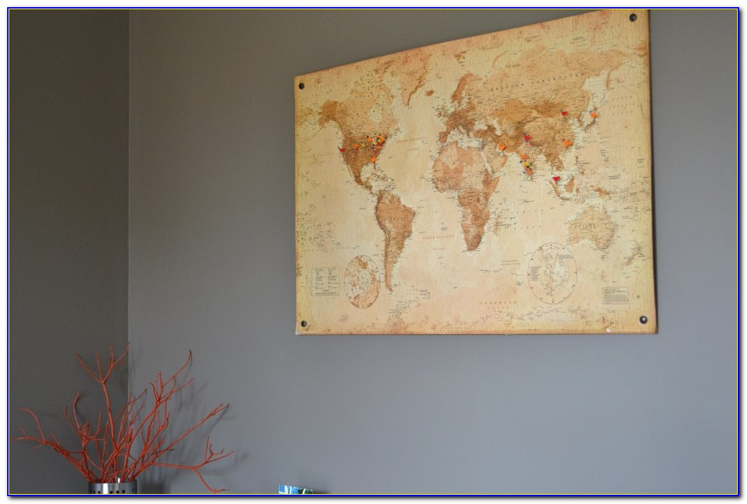 Diy Cork Board World Map