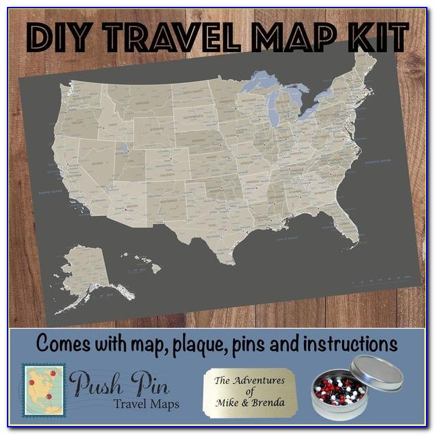 Diy Push Pin Map