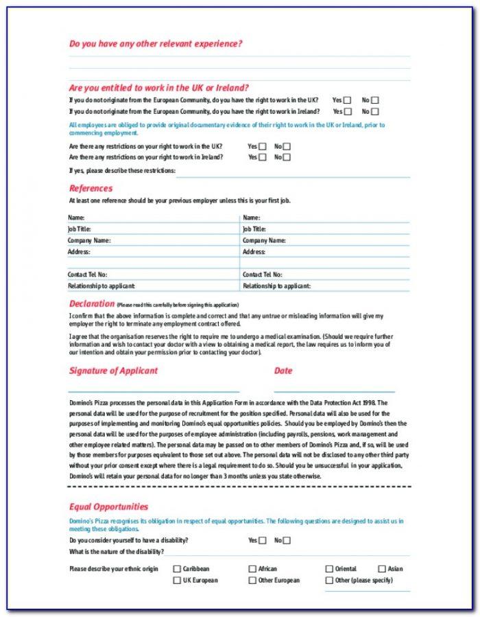 Dominos Jobs Application Form Online