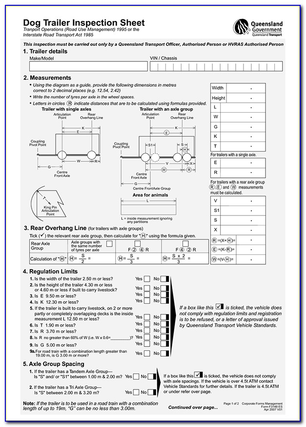 Dot Tractor Trailer Inspection Form
