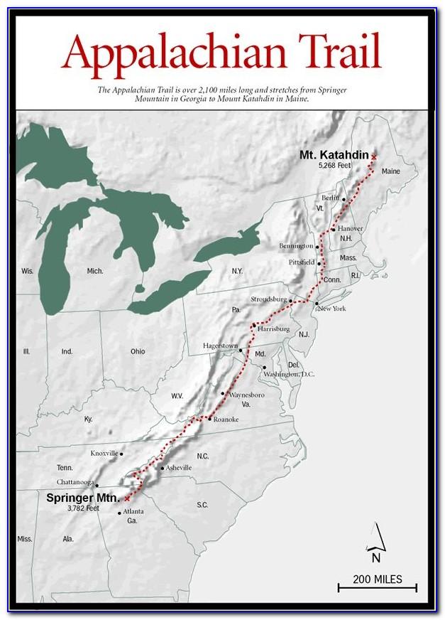 Driving The Appalachian Trail Map