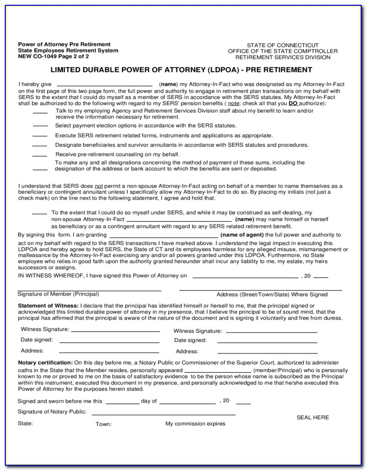 Durable Limited Power Of Attorney Sample