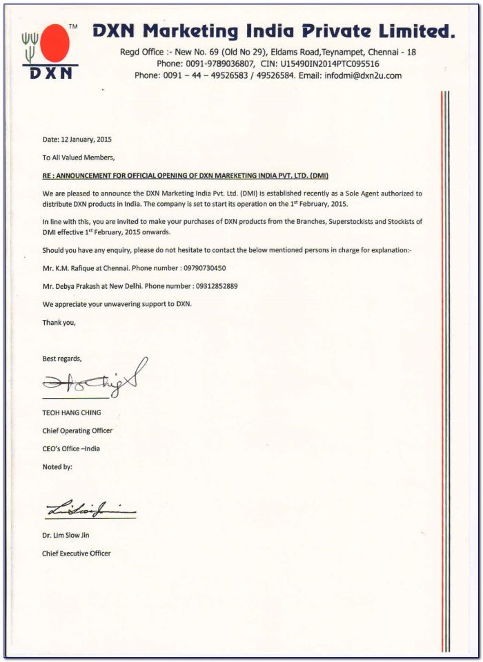 Dxn India Membership Form