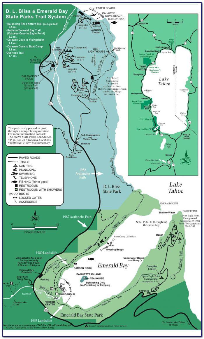 Eagle Lake Tahoe Trail Map