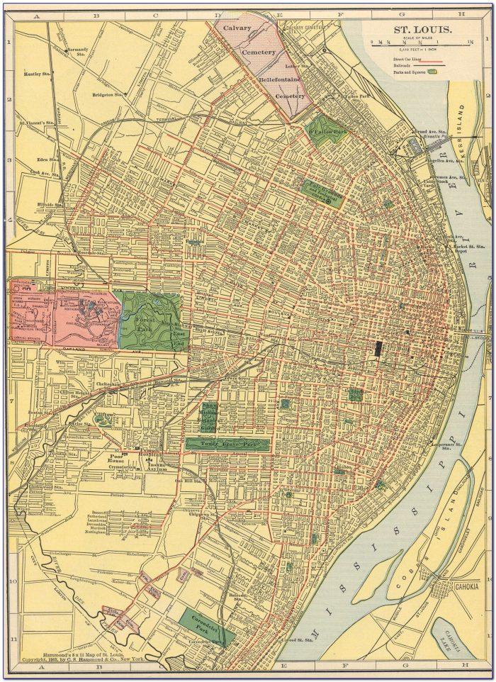 East St Louis Street Map