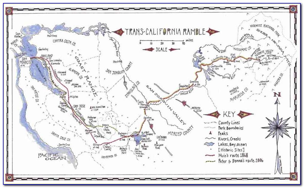 Elevation Map Of John Muir Trail