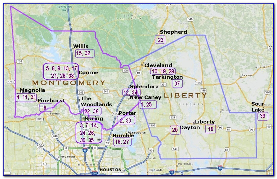 Elevation Map Of Montgomery County Texas