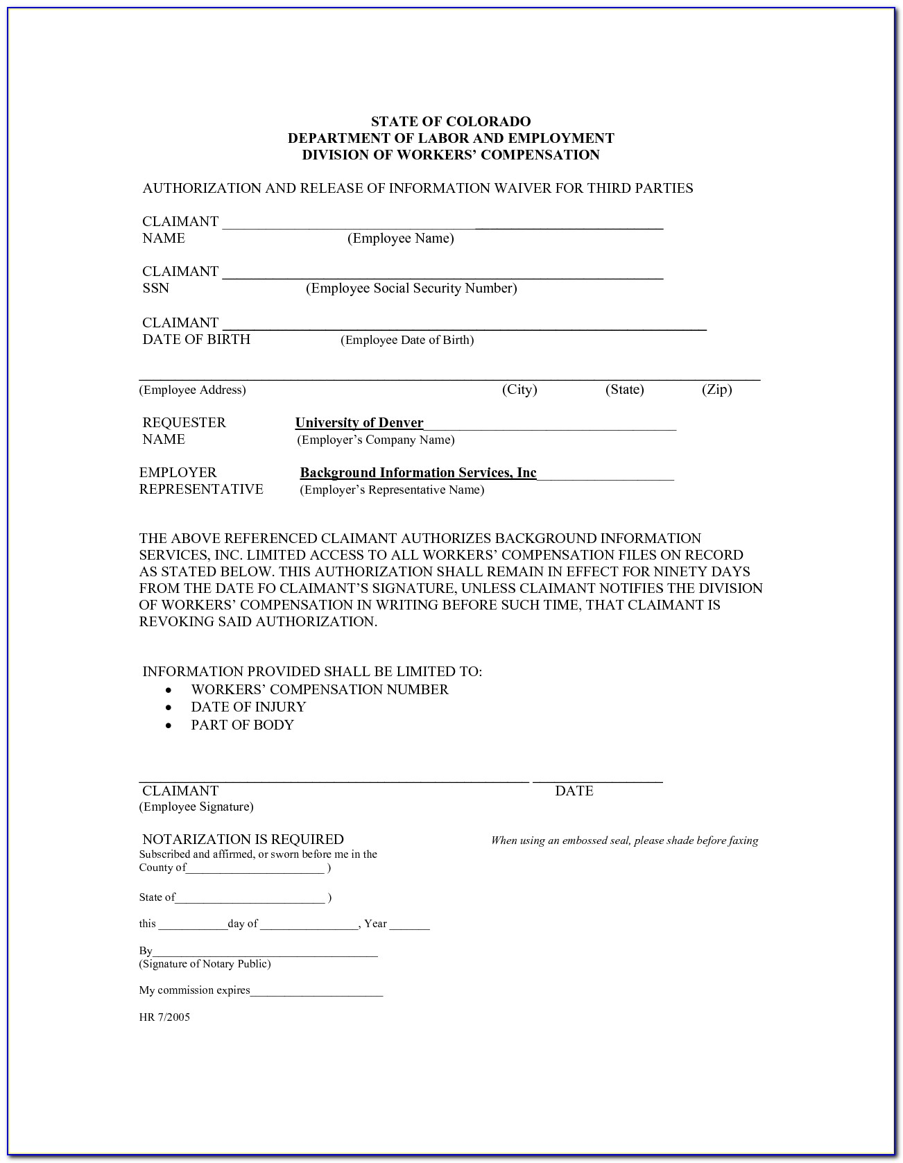 Employee Health Care Waiver Form