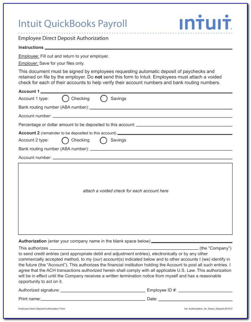 employee direct deposit form  Employee Payroll Direct Deposit Authorization Form - Form ...