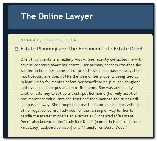 Enhanced Life Estate Deed Form Michigan