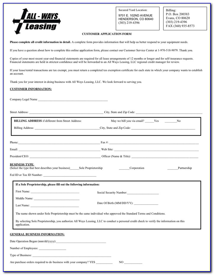 Equipment Lease Agreement Form Free