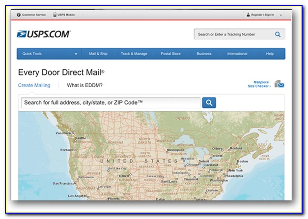 Every Door Direct Mail Map