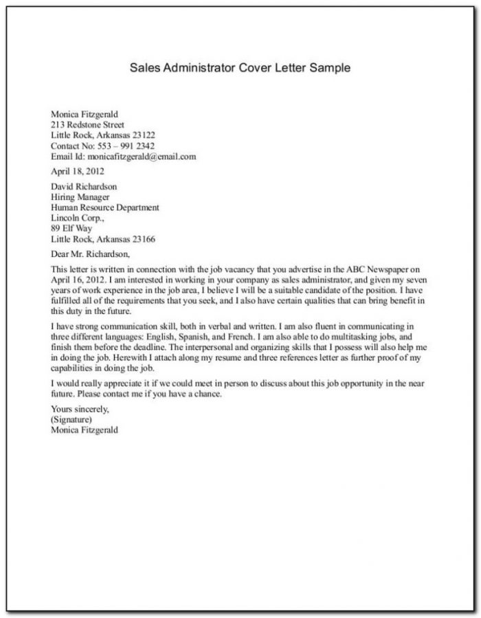 Example Of Application Letter For Hotel And Restaurant