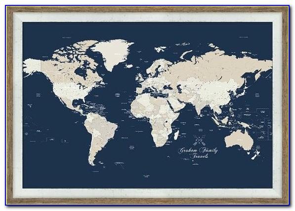 Extra Large Push Pin World Map