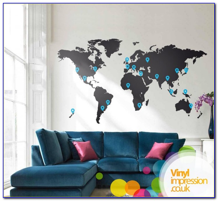 Extra Large World Map Decal