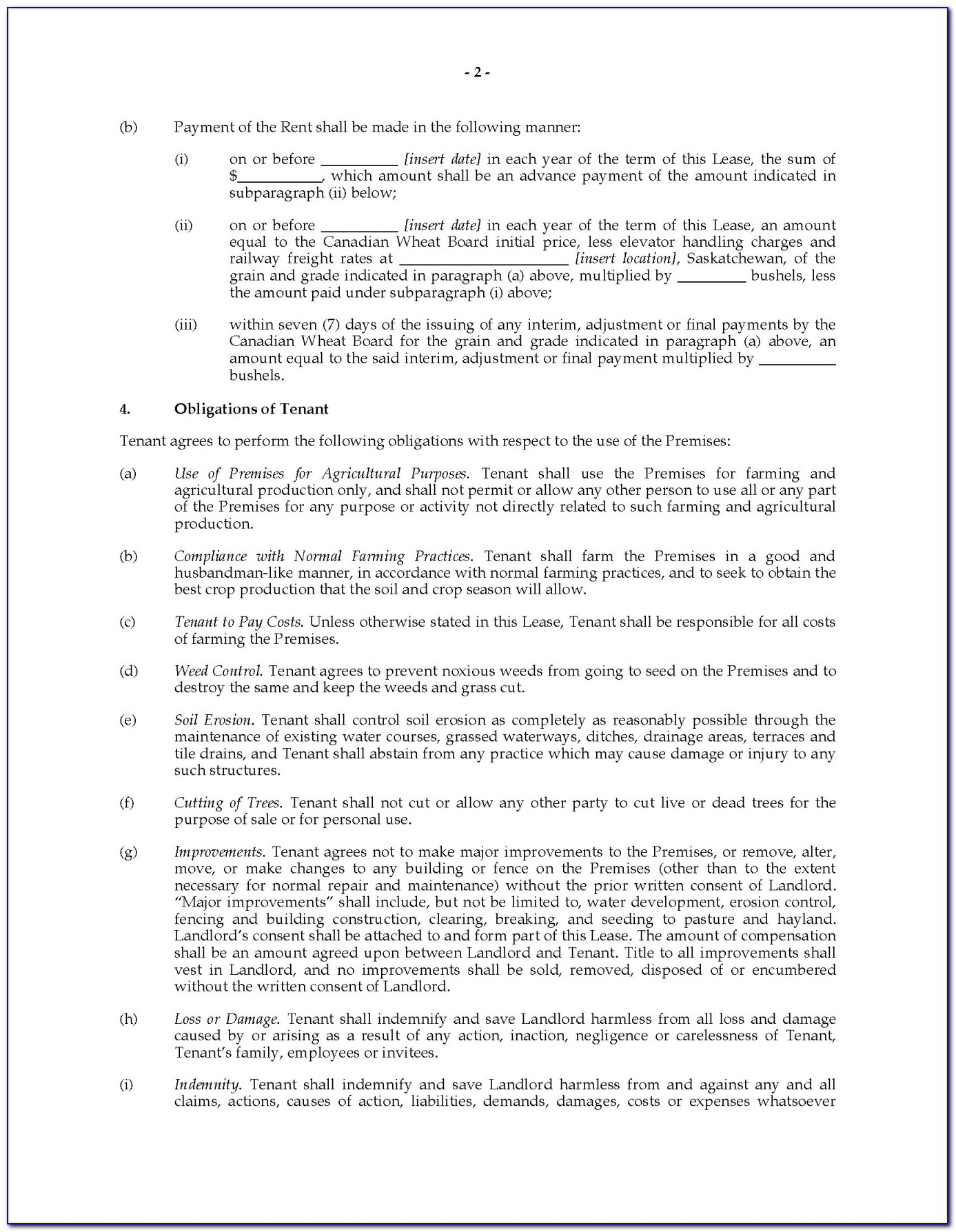 Saskatchewan Farm Land Cash Lease Agreement Legal Forms And Inside Land Rental Agreement Template Alberta