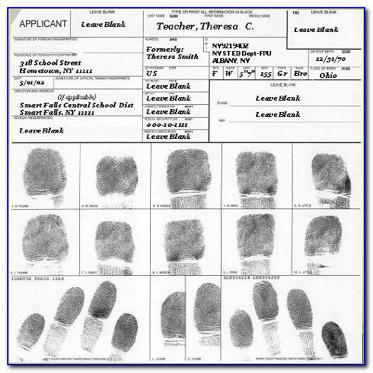 Fbi Clearance Form Fd 258