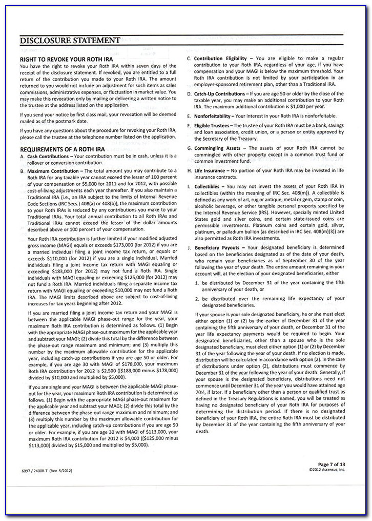 Fidelity Roth Ira Application Form