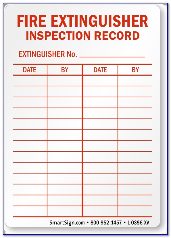 Fire Extinguisher Inspection Form