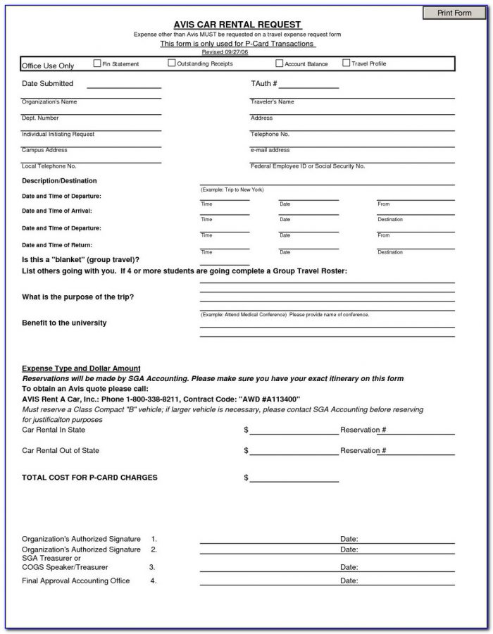 Rent Rebate Application Form