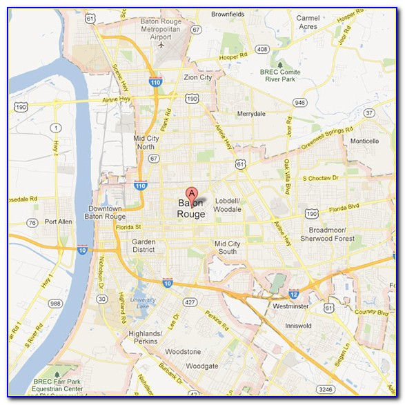 Flood Map Of Baton Rouge La