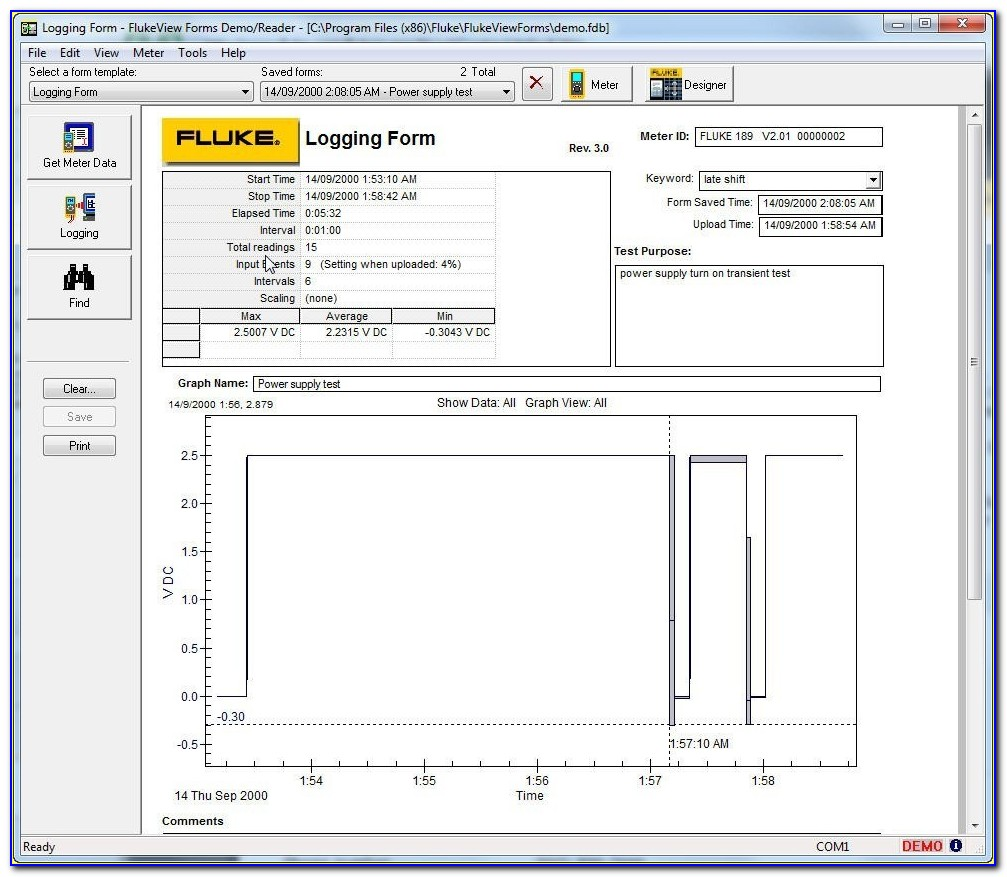 Flukeview Forms Software Version 3.8