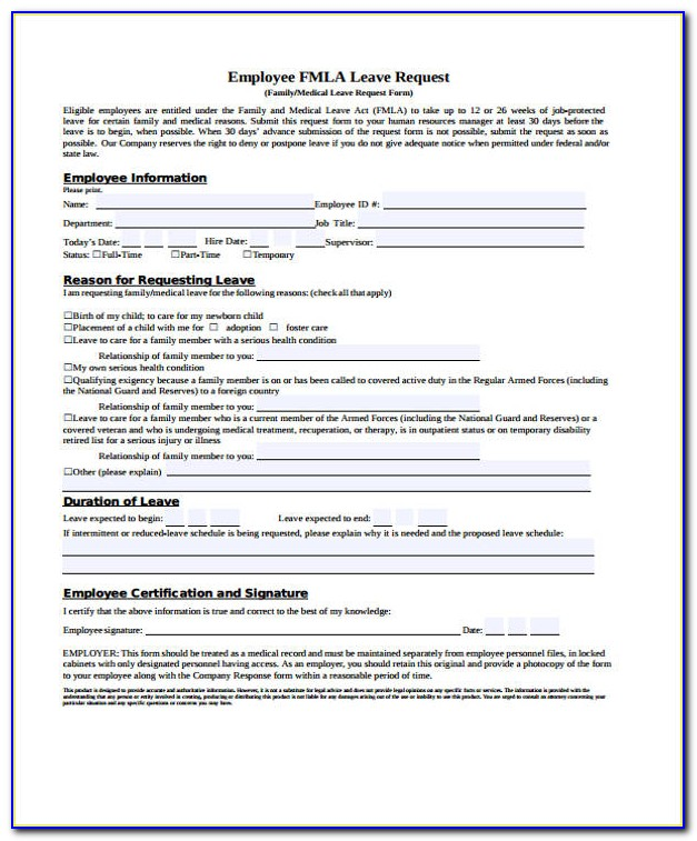 Fmla Forms Employer Response