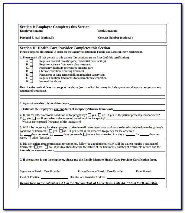 Fmla Paperwork For Employers