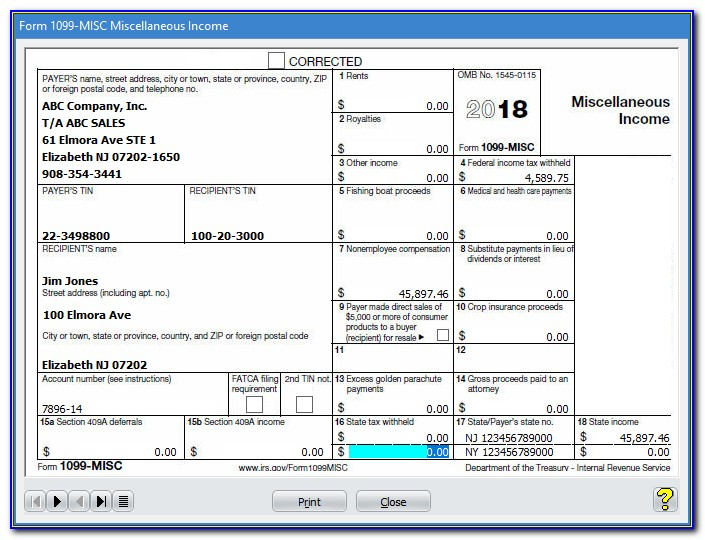 Form 1099 Misc 2015