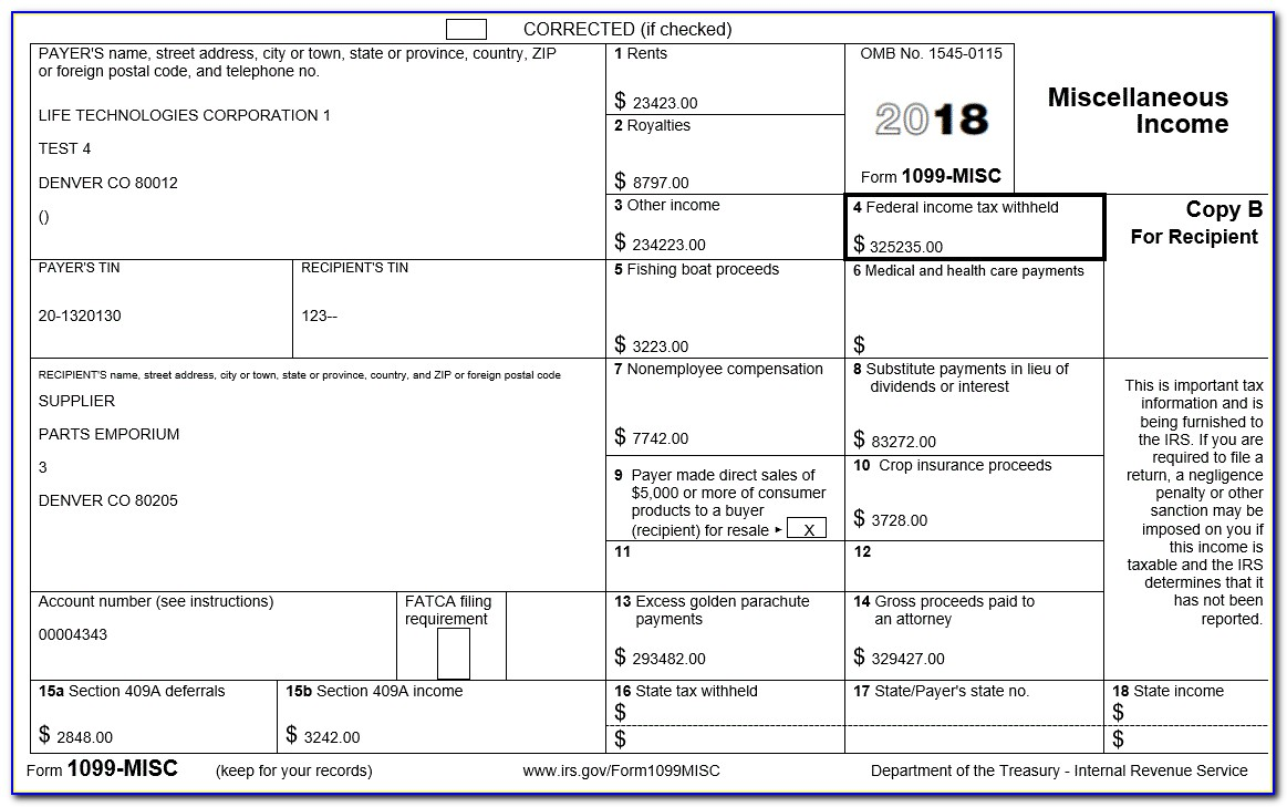 Form 1099 Misc Required To Be Issued