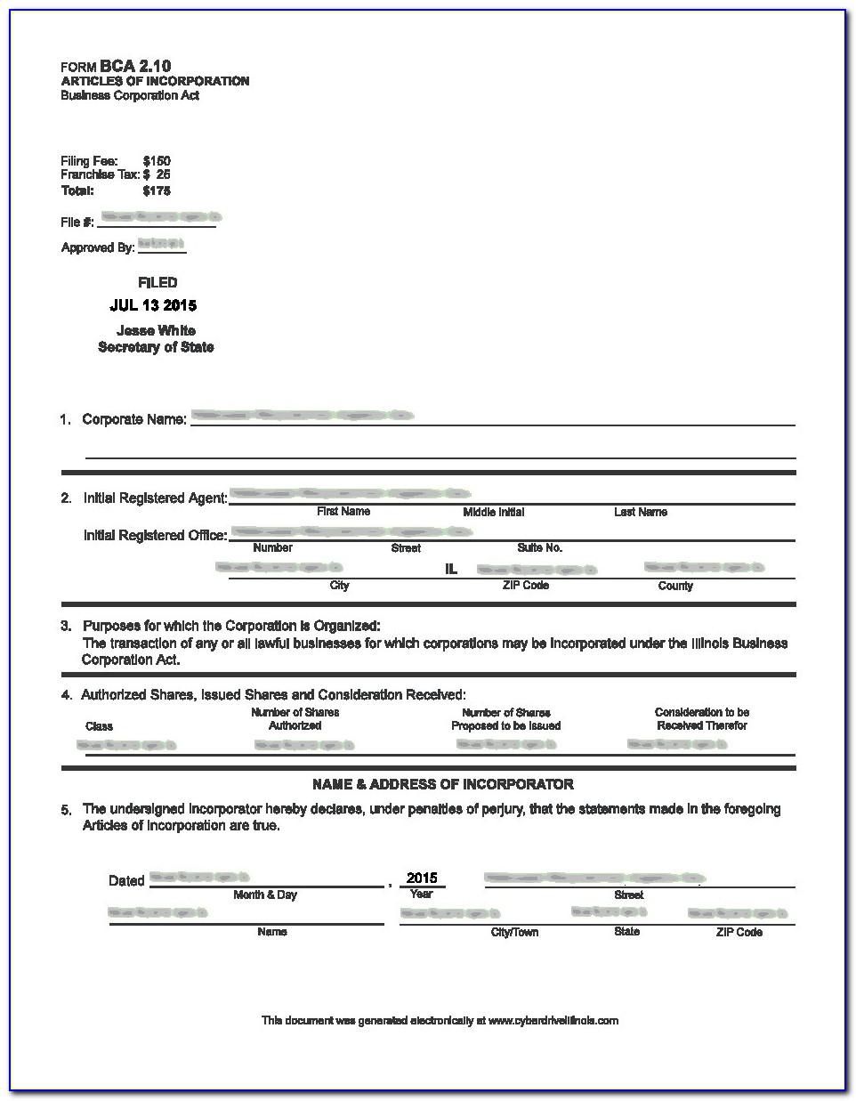 Form Llc In Illinois Online
