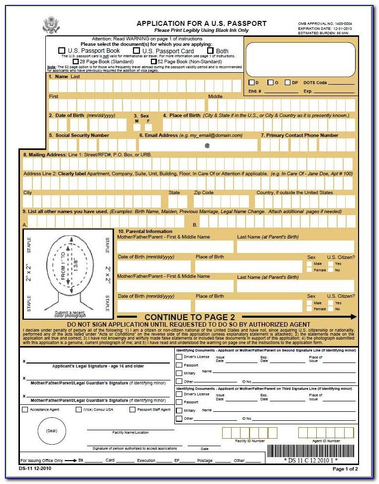 Form To Renew Passport Canada