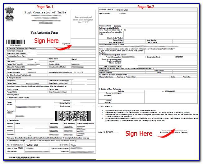 Forms For Indian Visa