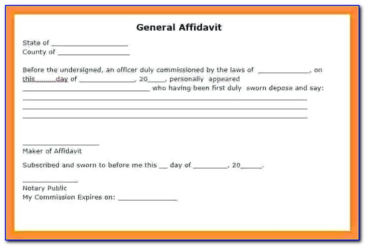 Free Affidavit Form Download Uk