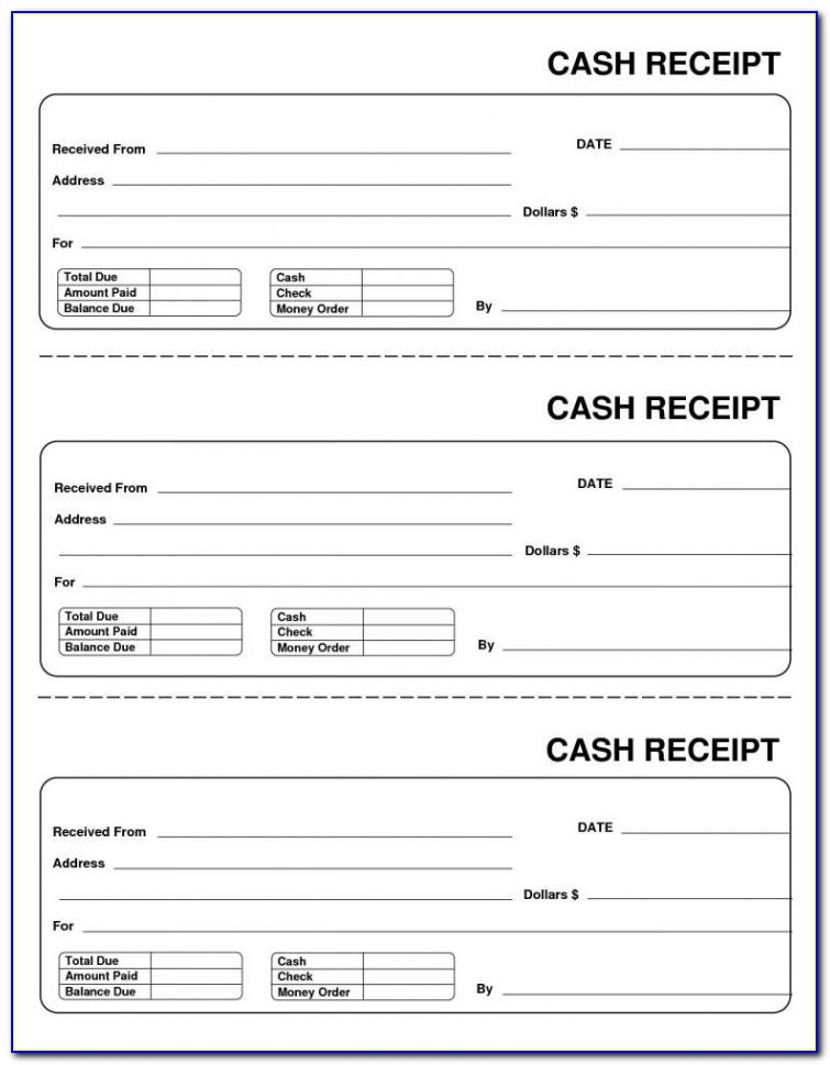 Free Cash Receipt Format In Excel