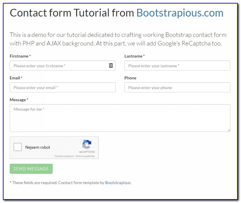 Free Contact Form Template For Dreamweaver (2)