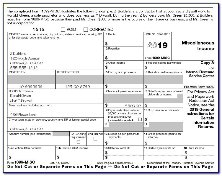 1099 form 2019 printable  Free Form 11 Misc 11 - Form : Resume Examples #qlkm11vR11aj