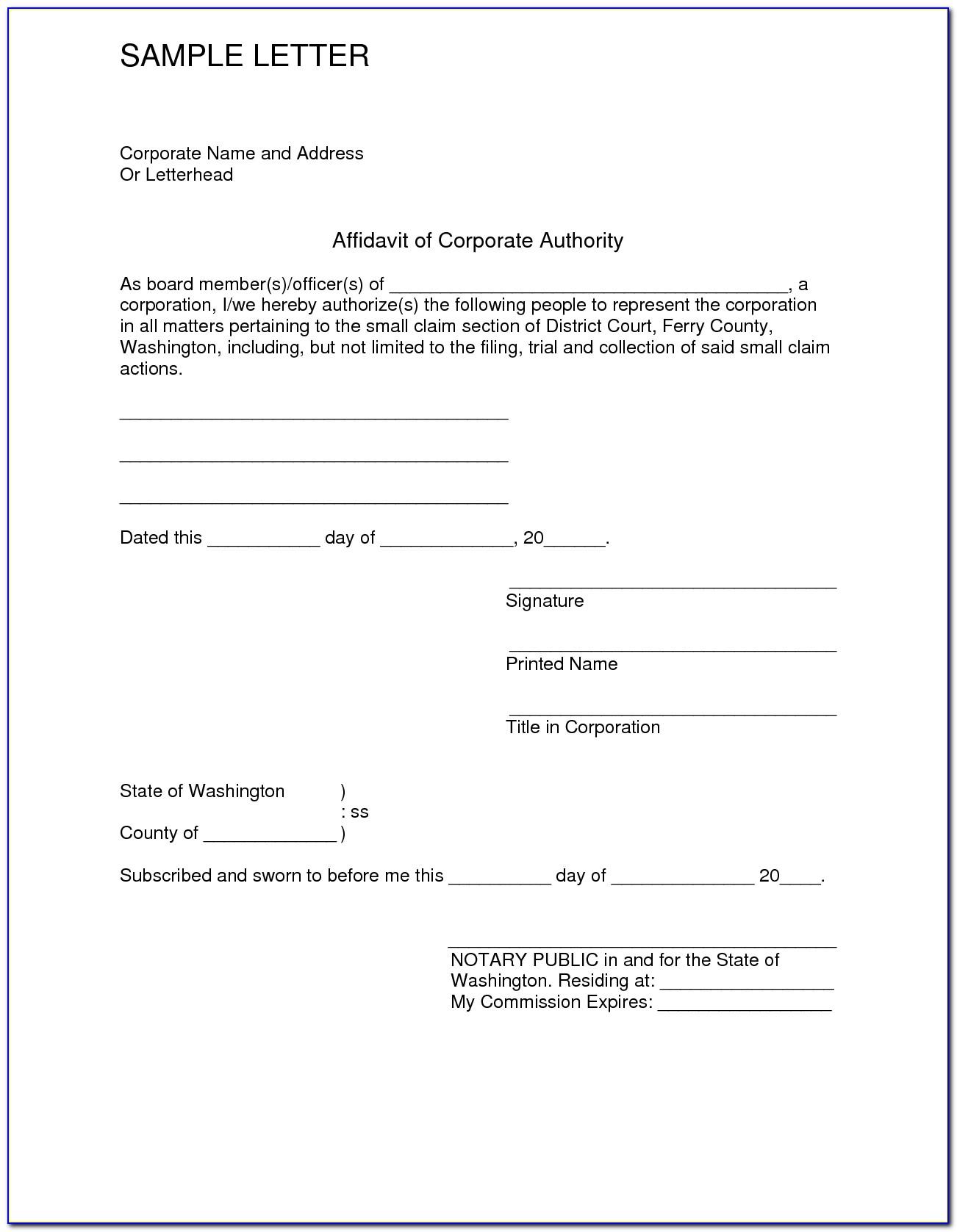 Free General Affidavit Form Pdf