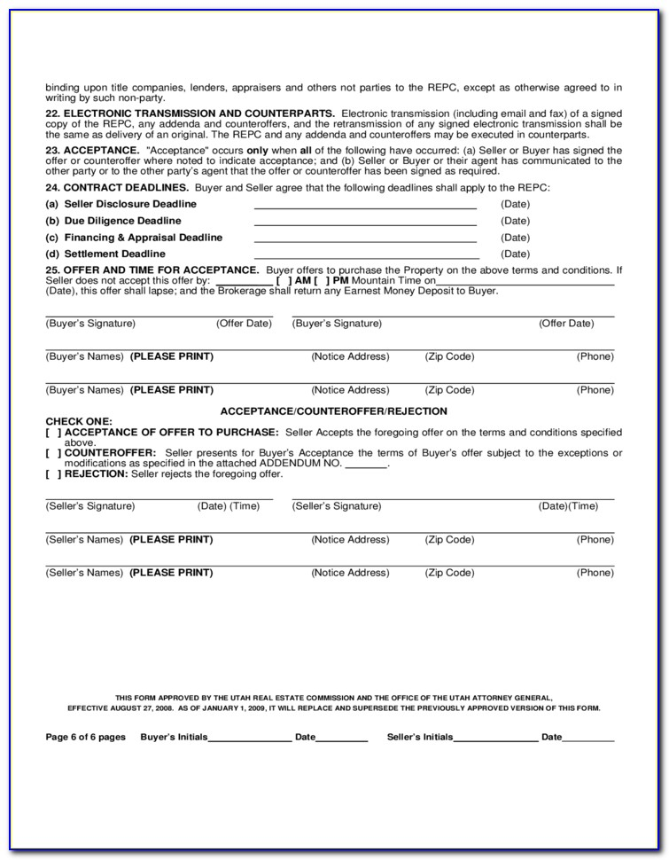 Free Offer To Purchase Real Estate Form Florida