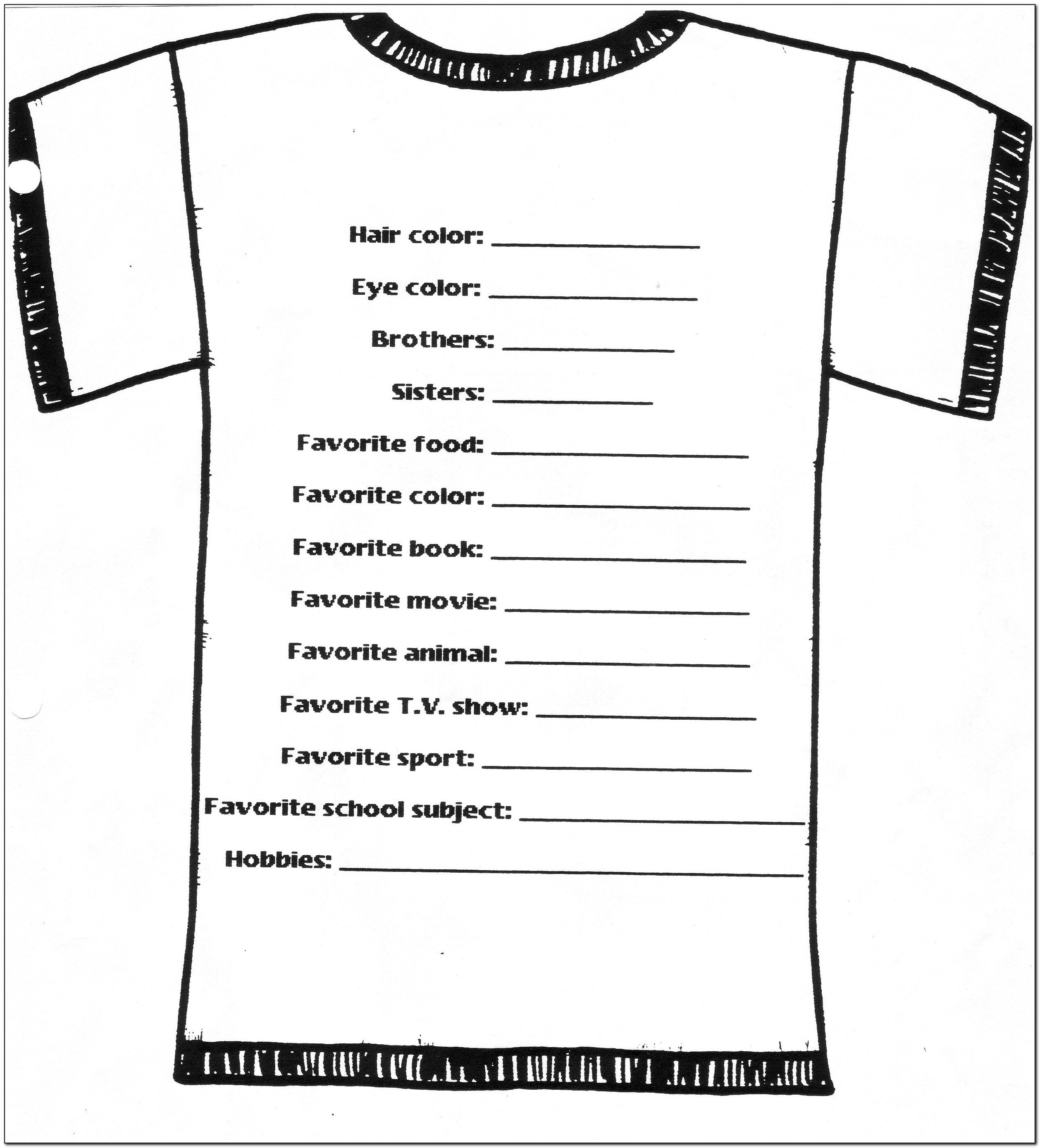 Free Online T Shirt Order Forms