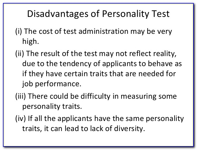 Free Personality Test For Job Applicants