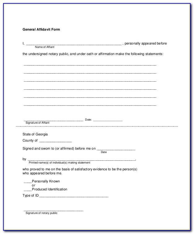 Free Printable Affidavit Of Service Form