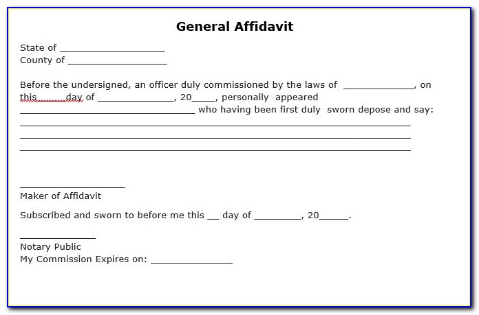 Free Printable Financial Affidavit Form