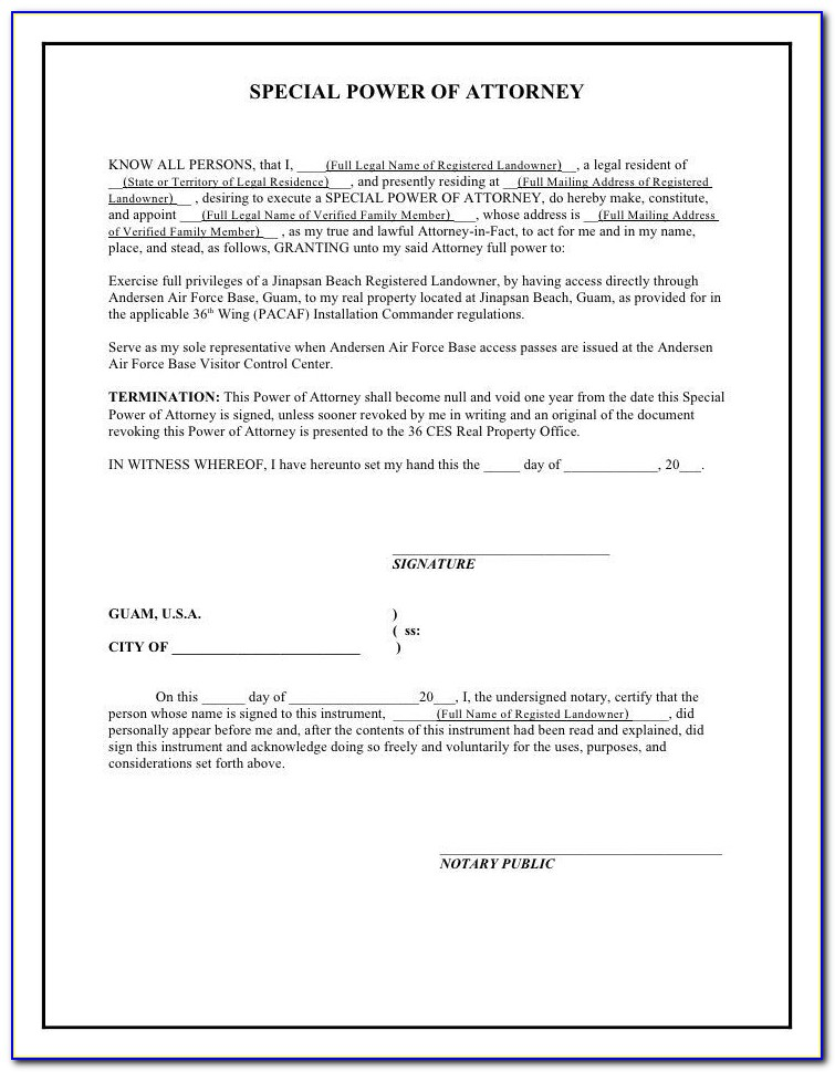 Free Printable Power Of Attorney Forms For Arkansas
