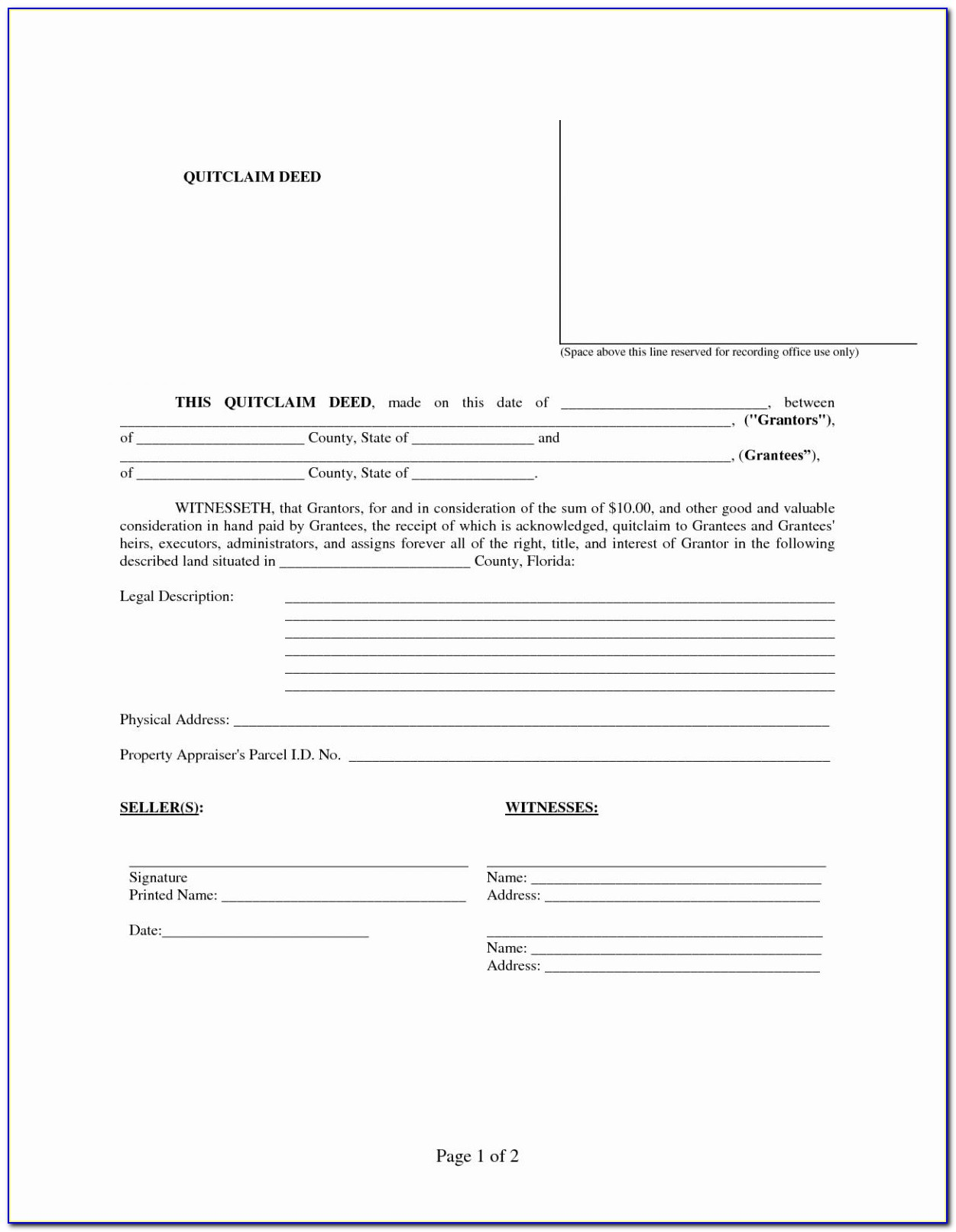 Quit Claim Deed Form Pdf Inspirational 30 Lovely Free Printable Divorce Papers For Illinois G4f