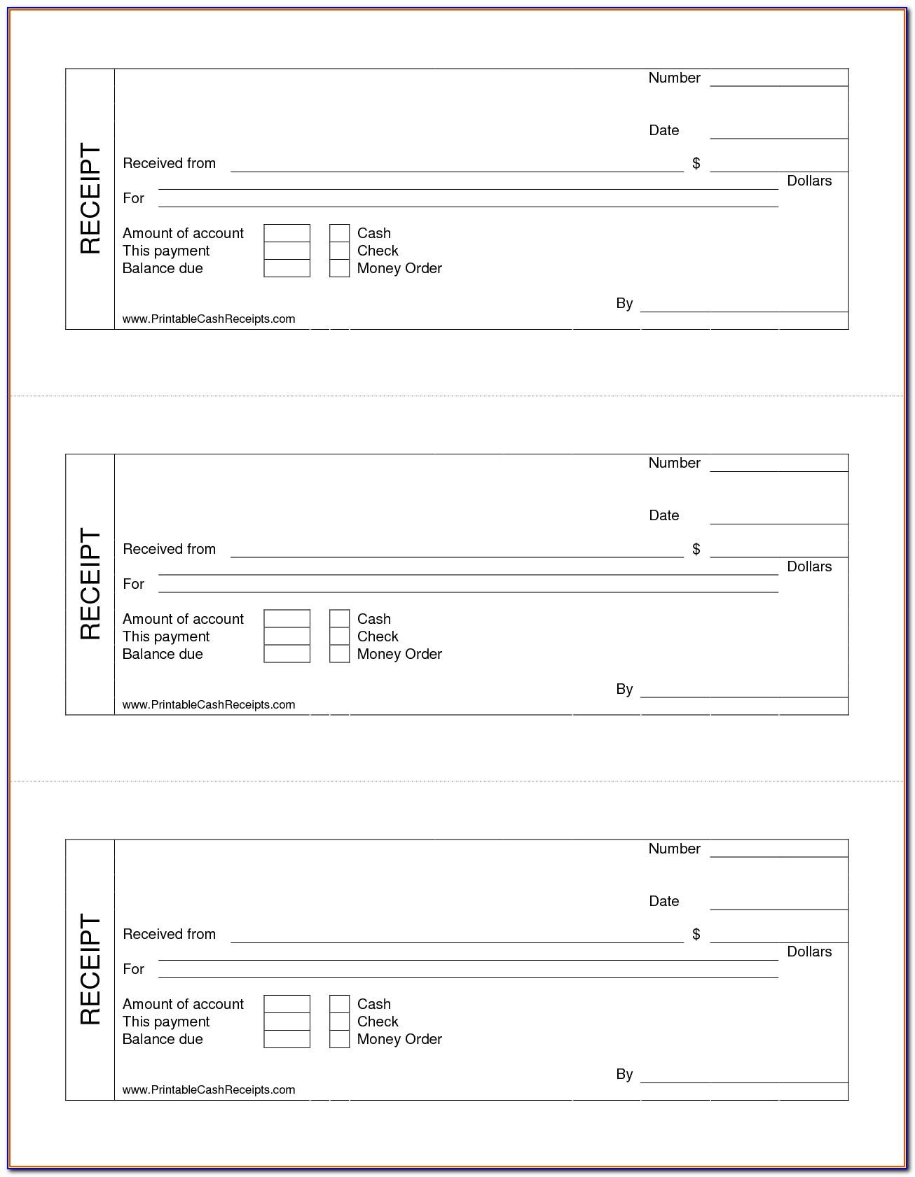 Free Printable Receipt Sample
