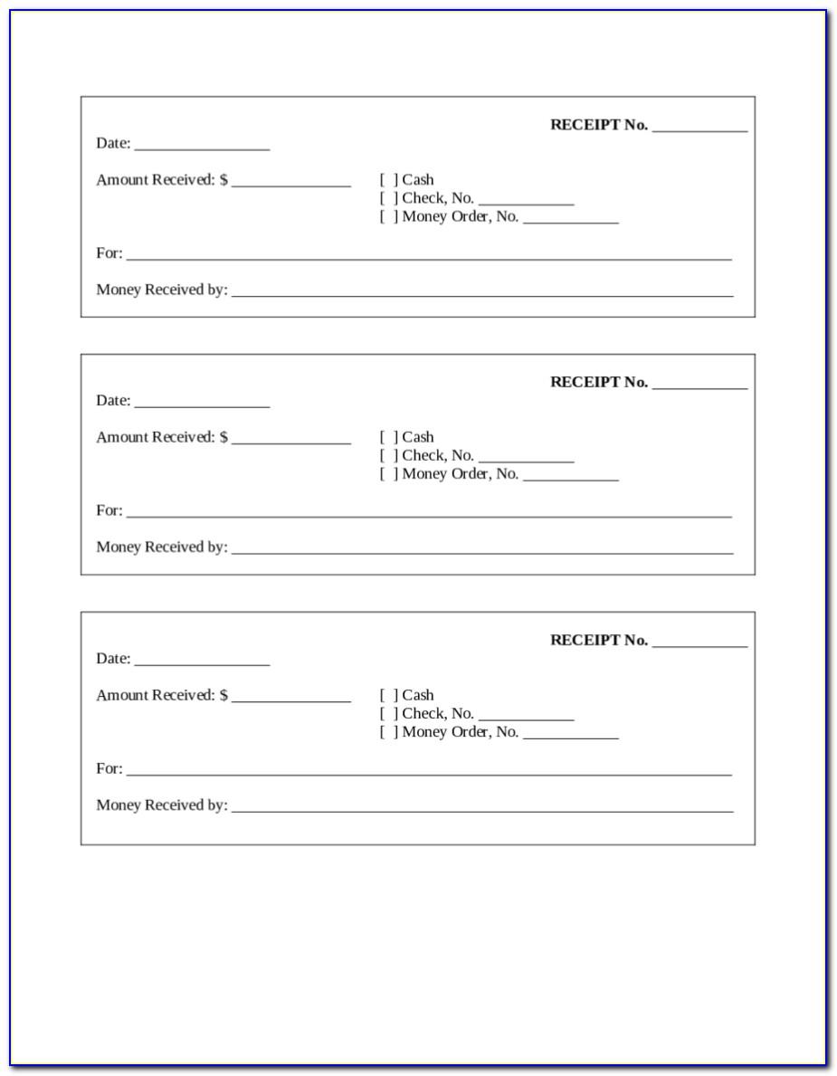 Free Printable Rental Receipt Form