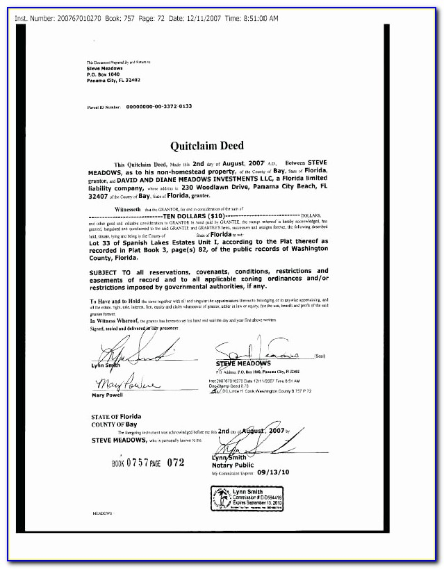 Florida Quit Claim Deed Template Unique Quit Claim Deed Form Free Template With Sample Florida Palm Beach